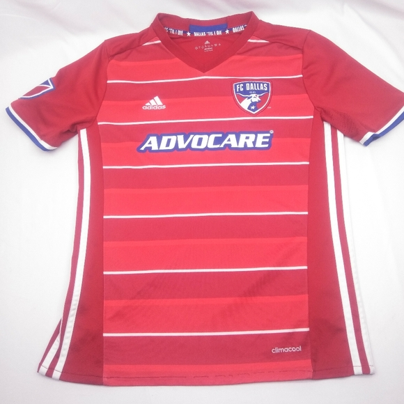 Adidas MLS FC Dallas Soccer Jersey Youth Large